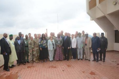 A Group picture of the Perm Sec MOD and her Directors together with the US Delegates