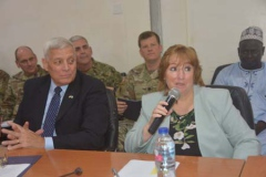 L-R: Rtd. Gen. Brian Eifler Head of US Special Forces team Catherine Gibbons Head of Delegation