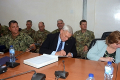 Rtd. Gen. Brian Eifler Head of US Special Forces team signing the Perm Secs register