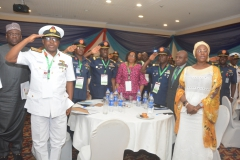 Cross section of Participants with the Permanent Secretary at the CMR workshop in Lagos