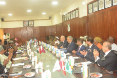 Defence Officials and Turkish Delegates during the signing of the Memorandum of Understanding